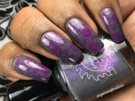 Great Lakes Lacquer - It's Not A Decision w/ nail art
