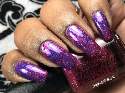 Pretty Beautiful Unlimited - Stamp It Out w/ nail art