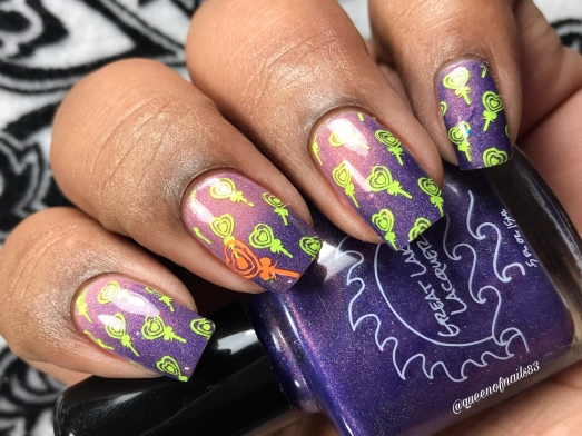 Great Lakes Lacquer - Not for Consumption - w/ nail art