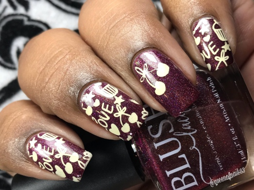 Blush - Pocketful of Cherries - w/ nail art