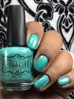 "Polish 'M - ""Beautiful Tropical Fish"" - w/ glossy tc"