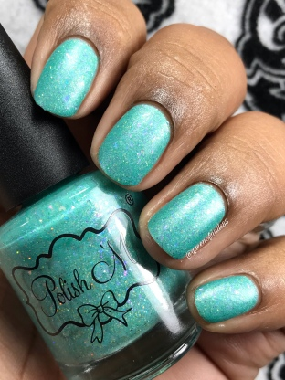 "Polish 'M - ""Beautiful Tropical Fish"" - w/ matte tc"