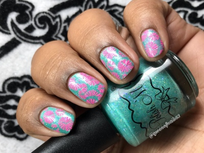"Polish 'M - ""Beautiful Tropical Fish"" - w/ nail art"