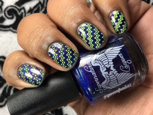 Shot Through the Heart - w/ nail art