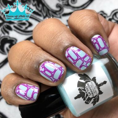 Aqua Marina - w/ nail art
