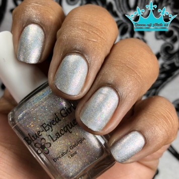 Blue-Eyed Girl Lacquer - Because My Character - w/ matte tc
