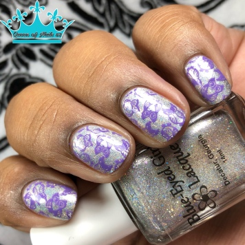 Blue-Eyed Girl Lacquer - Because My Character - w/ nail art