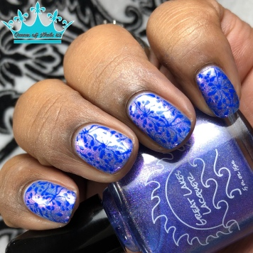 Great Lakes Lacquer - Time is a Face on the Water - w/ nail art
