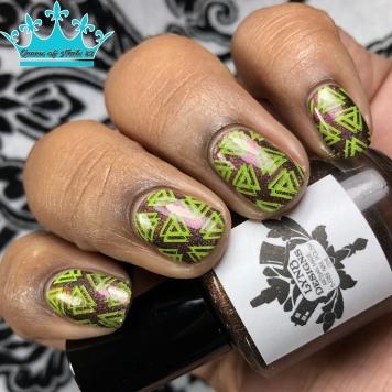 LynB Designs - Saunter Vaguely Downwards - w/ nail art