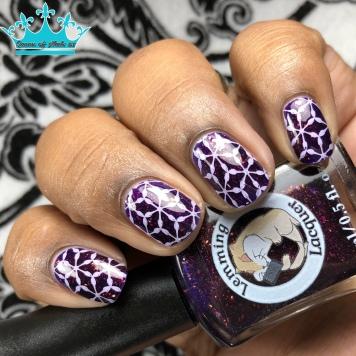 Lemming Lacquer - Reincarnate - w/ nail art