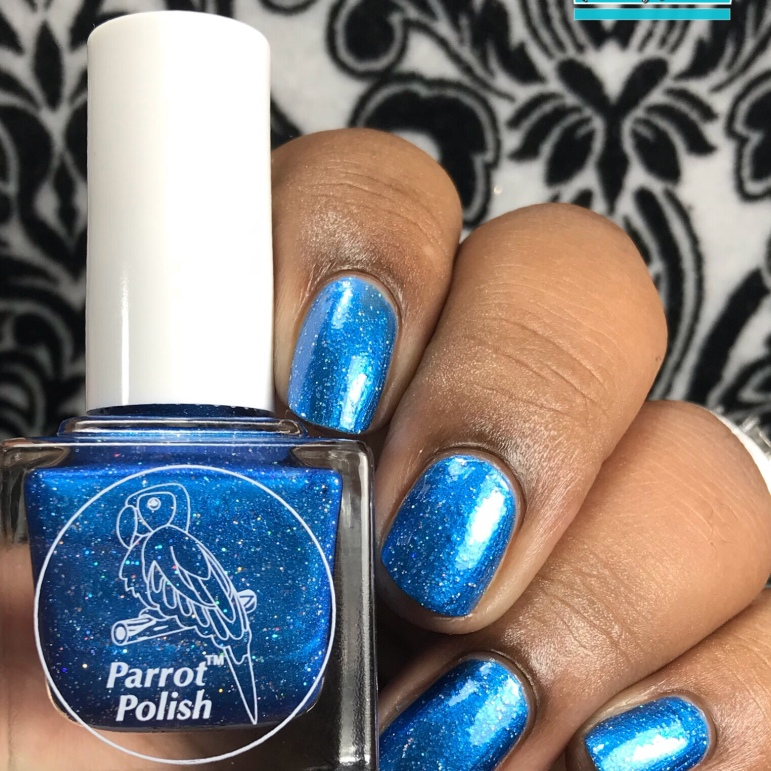 Parrot Polish - Blue Suede Shoes - w/ glossy tc