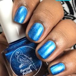 Parrot Polish - Blue Suede Shoes - w/ matte tc