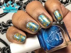 Parrot Polish - Blue Suede Shoes - w/ nail art