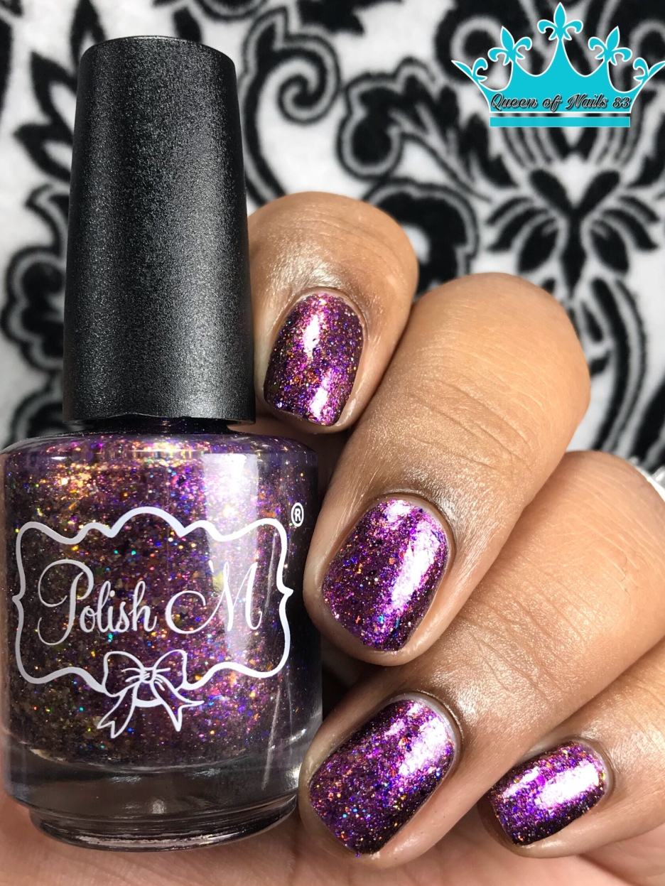 Polish 'M - Disco Inferno - w/ glossy tc