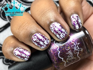 Polish 'M - Disco Inferno - w/ nail art