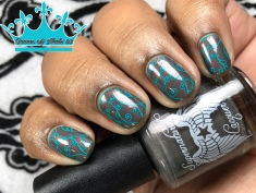 Supernatural Lacquer - Smells Like Teen Spirit - w/ nail art