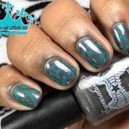 Supernatural Lacquer - Smells Like Teen Spirit - w/ nail art