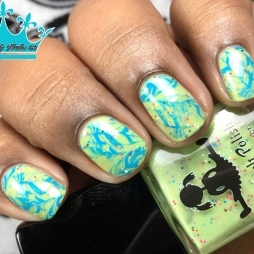 Dollish Polish - Summer of Love - w/ nail art