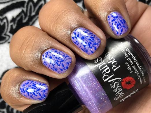 Sassy Pants Polish - Cure - w/ nail art