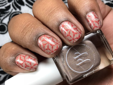 Tickled Taupe - w/ nail art