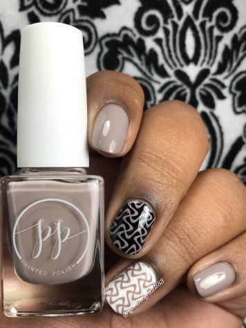 Stamped in Taupe - w/ glossy tc