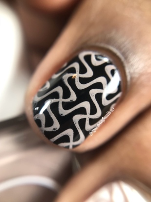 Stamped in Taupe - over black