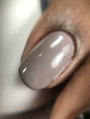 Stamped in Taupe - macro