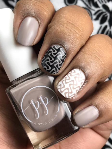 Stamped in Taupe - w/ matte tc