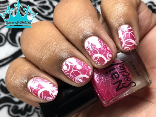 Pink Ice - w/ nail art