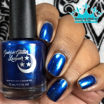 """Geekish Glitter Lacquer - """"Don't Be Bitter, Help The Critters"""" - w/ glossy tc"""