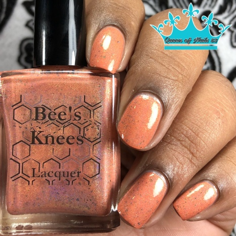 "Bees Knees Lacquer - ""Keep Friends Close, Anemones Closer"" - w/ glossy tc"