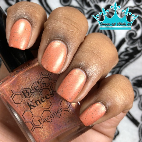 "Bees Knees Lacquer - ""Keep Friends Close, Anemones Closer"" - w/ matte tc"