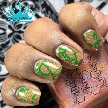 """Bees Knees Lacquer - """"Keep Friends Close, Anemones Closer"""" - w/ nail art"""