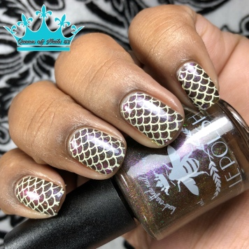 Le Polish - Love Is an Act of Nature w/ nail art
