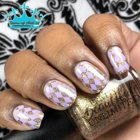 Fae Gold - w/ nail art