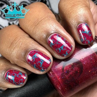 Miss Scarlet - w/ nail art