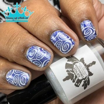Forever (over blurple base) - w/ nail art