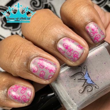 Mountain Snow Blossoms - w/ nail art
