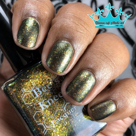 Bee's Knees Lacquer - Bubbling Candle - w/ matte tc