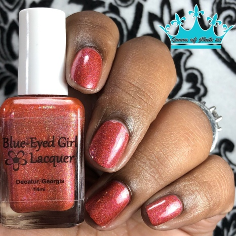 Blue-Eyed Girl Lacquer - Monster in a Turbulent Star - w/ glossy tc
