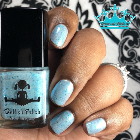 Dollish Polish - Drop It like It's Hoth - w/ glossy tc