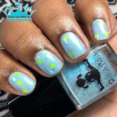 Dollish Polish - Drop It like It's Hoth - w/ nail art
