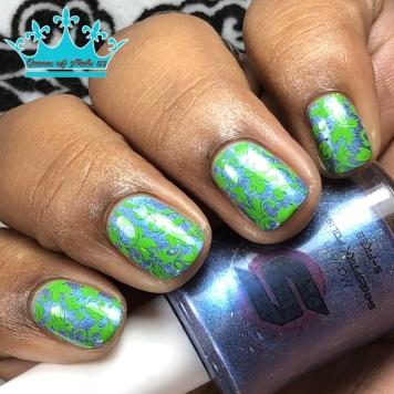 Shinespark Polish - Maveth - w/ nail art