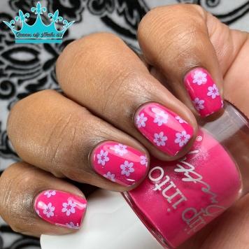 Dip Into Pink - w/ nail art