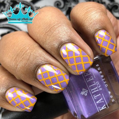 Kathleen & Co - Purple Pixies on Parade - w/ nail art