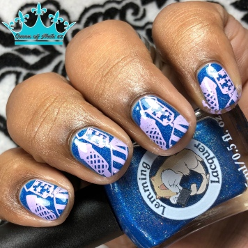 Justice Rains From Above - w/ nail art