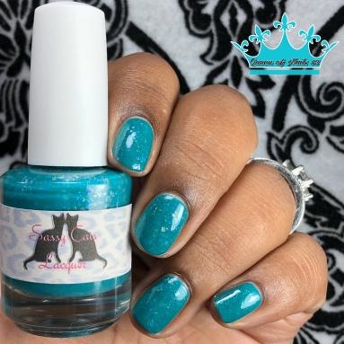 Sassy Cat Lacquer - A Fantasmic Blur - w/ glossy tc