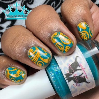 Sassy Cat Lacquer - A Fantasmic Blur - w/ nail art