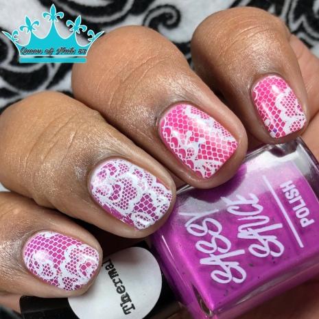 Purpink - w/ nail art