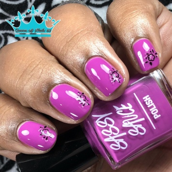 Grape Your Busted - w/ nail art
